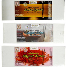 Herbal Special ,Intense Loban ,Kesar Premium Agarbatti Herbal, Loban, Saffron Agarbattis  (55 Units)
